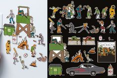Oh Yes! They Did! Zombie Apocalypse Magnet Set