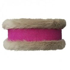 Luxury Beige and Bubblegum Tweed Headband from Annabel Brocks. Using a luxurious beige faux fur combined with a stylish bubblegum pink Harris Tweed, this stunning combination can be worn by any age and suits most skin tones. Contemporary Clothing, Harris Tweed, Bubblegum Pink, Faux Fur, Fashion Accessories, Beige, Suits, Luxury, Stylish