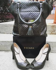 Classic Escada! Title:Escada green leather bag Price:$349.99 Item #:6513-13108 Title: Escada green peeptoe heel Price:$149.99 Item#:6513-13109 Location: Buckhead To purchase call  770.390.0010 ex 1  #alexissuitcase #buckhead #atl #atlantaconsignment #thriftatl #resale #highenddesigner #consignment #luxury #designer #resaleatlanta #boutique #atlanta #fashioninspiration #shopmycloset #upscaleresale  #fashion #style by alexissuitcase