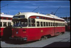 Orig Kodachrome Slide: TTC Toronto PCC Trolley Light Rail, Busses, Toronto, Transportation, Cars, History, Street, World, Vehicles