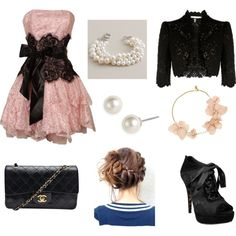 Pink Lace Chic, created by eritter on Polyvore