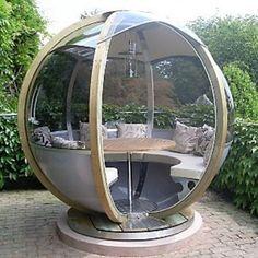 cool Round Garden Pods by designer John Lewis
