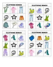 Bingo de la ropa