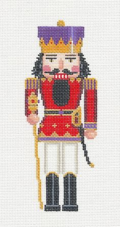 Nutcracker King Ornament handpainted Needlepoint Canvas by Susan Roberts ~ SO