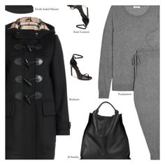 """""""Untitled #3437"""" by amberelb ❤ liked on Polyvore featuring Equipment, Burberry, Yves Saint Laurent, Jil Sander and Étoile Isabel Marant"""