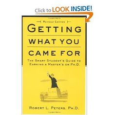 Based on interviews with career counselors, graduate students, and professors, Getting What You Came For is packed with real-life experiences. It has all the advice you will need not only to survive but to thrive in graduate school, incl.: instructions on applying to school & for financial aid; how to excel on qualifying exams; how to manage academic politics; and how to write and defend a top-notch thesis. Most important, it shows you how to land a job when you graduate.