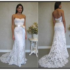 But with cap sleeves Lace Wedding Dress