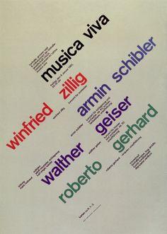 CHAUDRON: Joseph Müller-Brockmann - Musica Viva - Zurich Tonhalle Posters
