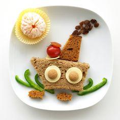 Sinterklaas - stoomboot - 5 december - lunch - boterham - gezond - piet- food - pepernoot