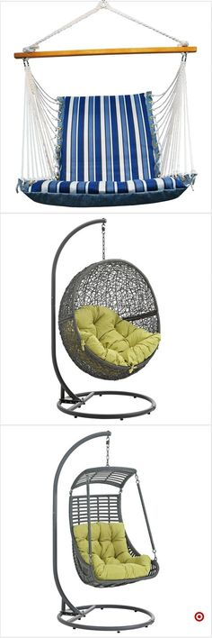 the first one would be best for small space Egg Swing Chair, Swinging Chair, Hammock Chair, Diy Chair, Teen Bedroom, Dream Bedroom, Bedroom Decor, My New Room, My Room