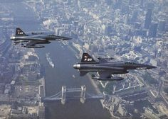 f20 tigershark flying over London