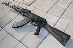 AK-103 it's the standard assault rifle in the egyptian army