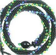 8 around bead crochet: Dotted Spiral