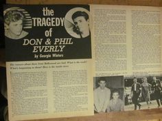 The Everly Brothers Don and Phil Everly Two Page Vintage Clipping | eBay
