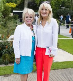 (PHOTO: Jeff Spicer via Getty Images)  Chelsea Flower Show 2016: Celebrity spotting  Judith Chalmers and Gaby Roslin