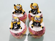 Minions All Blacks Rugby Cupcakes