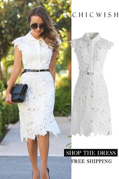 Full Flower Cut Out Midi Dress – Outfit Inspiration & Ideas for All Occasions Mode Outfits, Dress Outfits, Fashion Dresses, Prom Dresses, Summer Dresses, Midi Dresses, Pretty Dresses, Beautiful Dresses, Lace Dress