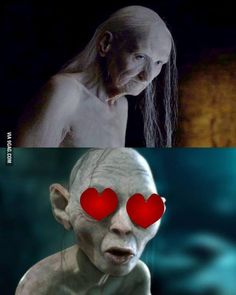 Gollum's new Game of Thrones crush. - Game Of Thrones Game Of Thrones Meme, Khal Drogo, Jon Snow, Game Of Thrones Instagram, Game Of Thones, O Hobbit, Got Memes, Winter Is Here, Funny Memes