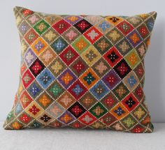Joy Thorpe | Online furniture | curious | art shop selling original prints and antiques | Vintage Cross Stitch Cushion                                                                                                                                                                                 More