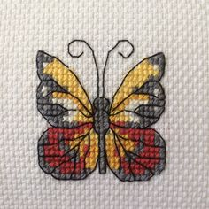 Butterfly cross stitch / kanaviçe etamin kelebek I