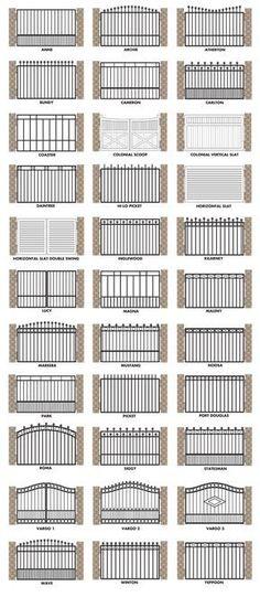 Brisbane Gates offers the following gate designs:
