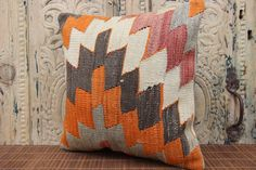 Home Design Cushion Cover 16 x 16  Zigzag Pillow by kilimwarehouse, $39.00