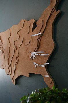design dump: cork board map