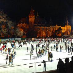 Ice+skating+in+Budapest