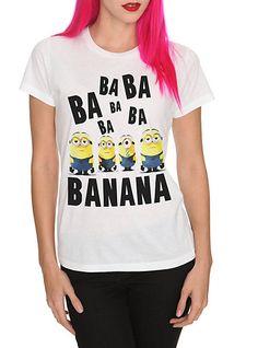 Tee shirt: Despicable Me 2 Minion Girls | Cottonable