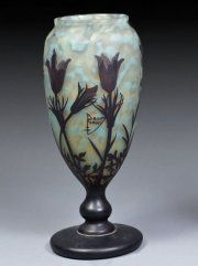 Daum Nancy~An ovoid cameo glass vase~Circa 1900