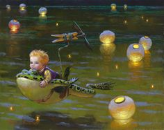 Victor Nizovtsev giclees of fables, fantasy, theatrical and imaginative art, Page 2 Soft Landing