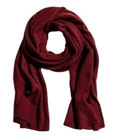 Kasjmier sjaal | Bordeauxrood | Dames | H&M NL