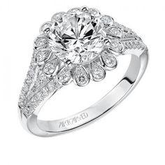 Irina ArtCarved Diamond Engagement Ring