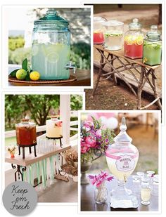 So cute for wedding cocktails!