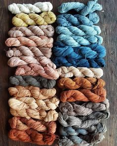 Indonesian botanically dyed yarns captured by @natalie_miller_design