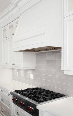 Soho Warm Grey 4 X 16 Gl Subway Tile Backsplash Modern Kitchen Wooden