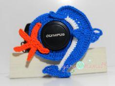 Crochet Dolphin Camera Lens Buddy by YarnMama84 on Etsy, $10.00