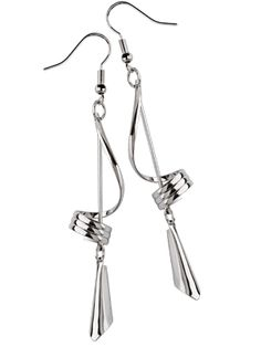 Corina - silver plated earrings