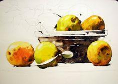 [정물수채화] 모과정물 - 수채화과정 : 네이버 블로그 Painting, Art, Objects