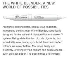 Winsor Newton pigment marker - the revolutionary white blender, perfect for black paper