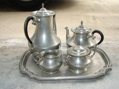 Love pewter tea sets...