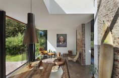 Architecture, Inspiring Living Room Ideas: Netherlands Cottage with Historical Design for Spending Holidays
