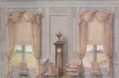 Georges Rémon (French; 1889–1963)Décor des fenêtres du salon d'attente.