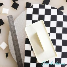 Crumb Avenue - Easy to follow cake topper tutorials | Tutorials | Checkered Cake Board Fondant Cake Tutorial, Cake Topper Tutorial, Fondant Icing, Cake Toppers, Frosting, Checkered Cake, Race Track Cake, Ferrari Cake, Hot Wheels Cake