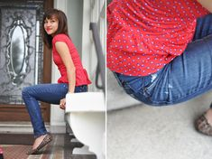 C: Take out your jeans waistband tutorial...aka make your pants bigger!