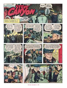 Steve Canyon - 1959 by Milton Caniff Milton Caniff, Vintage Comics, Comic Art, The Past, Gallery, Roof Rack, Cartoon Art