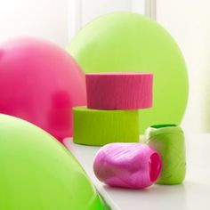Hot Pink & Lime Green Decorating Kit  by Just4Parties  Be the first to review this item | Like (0)  Price:	$5.00