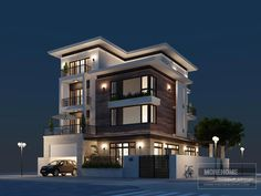 Ideas For Design House Front Modern Architecture Modern Bungalow Exterior, Modern Exterior House Designs, Modern House Facades, Modern Architecture House, Modern House Plans, Modern House Design, House Design Photos, Exterior Design, 3 Storey House Design