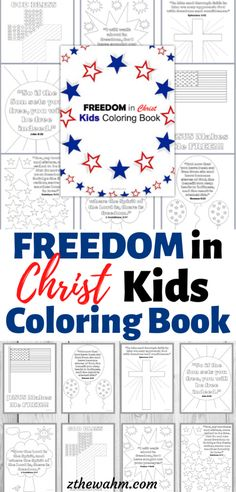 If you're a patriot at heart, this Freedom in Christ Kids Coloring book is a fun way to include God into your 4th of July or Memorial day celebration. It's also a great way to teach your kiddos about the freedom they can have in Jesus Christ! Before you go see fireworks, allow your kids to enjoy this patriotic activity. #kids4thofjulycrafts #patriotickidscrafts Educational Activities For Kids, Infant Activities, Fun Activities, Diy Crafts To Do, Holiday Crafts For Kids, Coloring For Kids, Coloring Books, Memorial Day Celebrations, Freedom In Christ