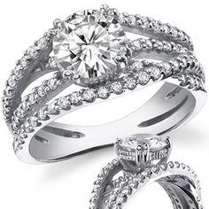 Multi-Band Round Moissanite Engagement Ring